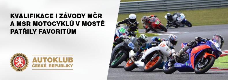 Kvalifikace i závody MČR a MSR v Mostě patřily favoritům