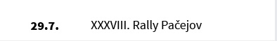 XXXVIII. Rally Pačejov