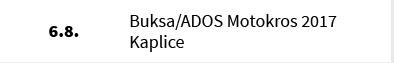 Buksa/ADOS Motokros 2017 Kaplice