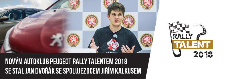 Novým Autoklub Peugeot Rally Talentem se stal Jan Dvořák se spolujezdcem Jiřím Kalkusem