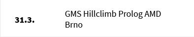 GMS Hillclimb Prolog AMD Brno