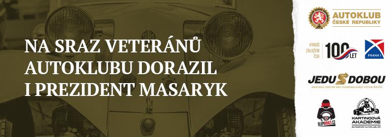 Na sraz veteránů Autoklubu dorazil i prezident Masaryk