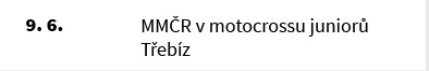MMČR v motocrossu juniorů Třebíz