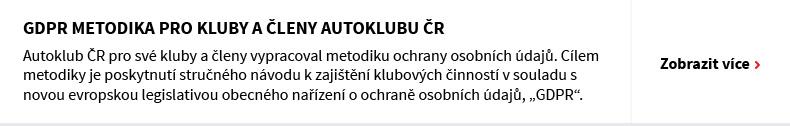 GDPR metodika pro kluby a členy Autoklubu ČR