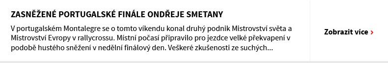 Zasněžené portugalské finále Ondřeje Smetany