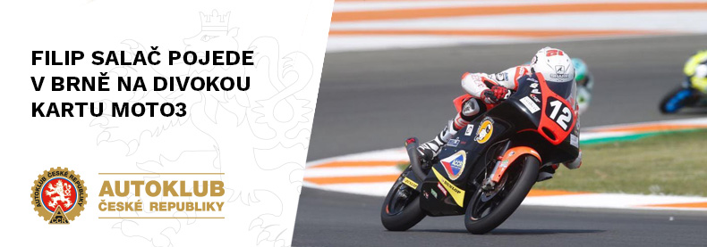 Filip Salač pojede v Brně na divokou kartu Moto3