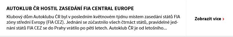 Autoklub ČR hostil zasedání FIA Central Europe
