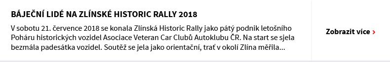 Báječní lidé na Zlínské Historic Rally 2018