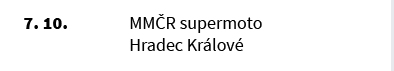 MMČR supermoto Hradec Králové