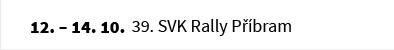 39. SVK Rally Příbram