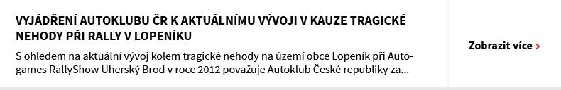 Vyjádření Autoklubu ČR k aktuálnímu vývoji v kauze tragické nehody při rally v Lopeníku