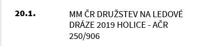 MM ČR Družstev na Ledové dráze 2019 Holice - AČR 250/906