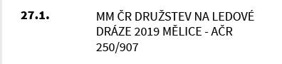 MM ČR Družstev na Ledové dráze 2019 Mělice - AČR 250/907