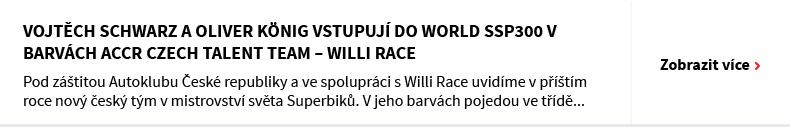 VOJTĚCH SCHWARZ A OLIVER KÖNIG VSTUPUJÍ DO WORLD SSP300 v barvách ACCR CZECH TALENT TEAM – WILLI RACE