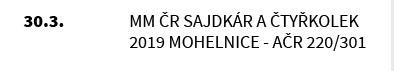 MM ČR SAJDKÁR A ČTYŘKOLEK 2019 MOHELNICE - AČR 220/301