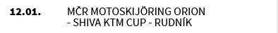 MČR MOTOSKIJÖRING Orion - Shiva KTM Cup - Rudník