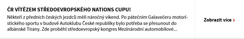 ČR vítězem středoevropského Nations Cupu