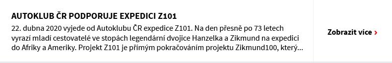 AUTOKLUB ČR PODPORUJE EXPEDICI Z101