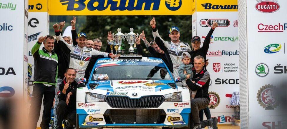 Barum Czech Rally Zlín vyhrál podeváté Jan Kopecký